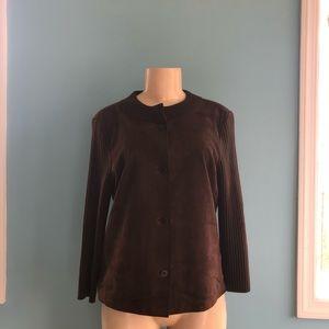 Talbots Brown Pure Italian Merino Leather Top
